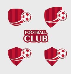 football Badge 6 vector image