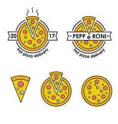 pizza delivery hot pizza delivery food delivery vector image vector image