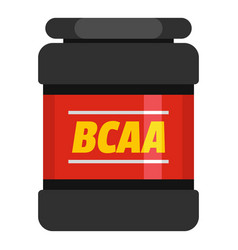 bcaa icon flat style vector image vector image