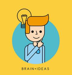 character idea brain innovation concept vector image