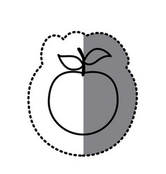 figure apple fruit icon vector image vector image