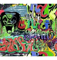 Graffiti wall urban background seamless vector image vector image