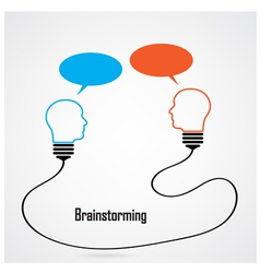 light bulb Idea and brainstorming concept vector image vector image