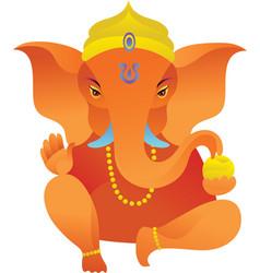 Yoga icons Ganesh statue vector image