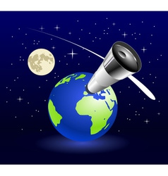 Earth blue planet vector image