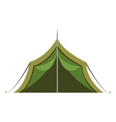 Green camping tent graphic vector