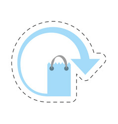 paper bag gift delivery merchandise vector image
