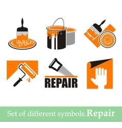 Repair symbols vector image