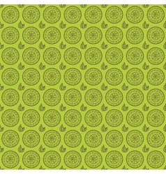Seamless floral pattern with hand drawn elements vector image vector image