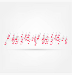 Various music notes on stave vector