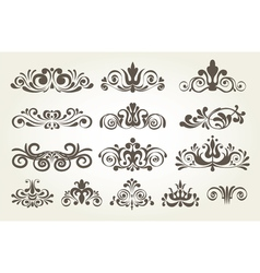 Vintage element and page decoration Borders set vector image vector image