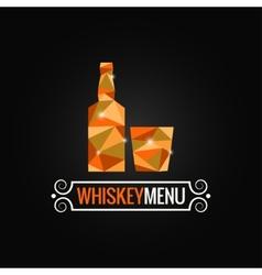 whiskey bottle poly design background vector image vector image
