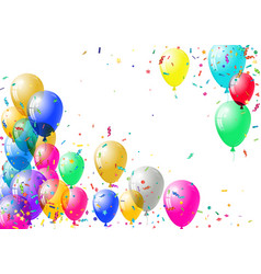Abstract colorful confetti and balloons background vector