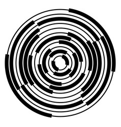 Abstract radial concentric circles rings vector