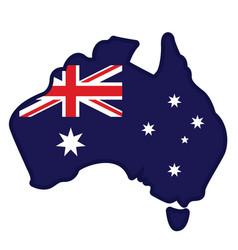 Australia simplified flag map vector