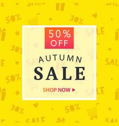 Autumn sale banner template vector