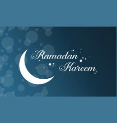 Background style ramadan kareem card vector