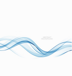 blue abstract wave abstract background vector image