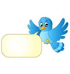 Blue bird with comics bubble vector