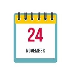 Calendar november 24 icon vector