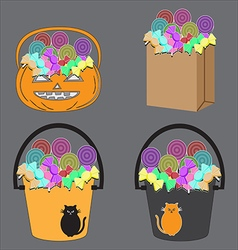 Candy basket vector