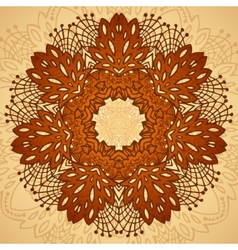 chocolate flower seamless pattern vector image vector image