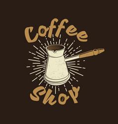 Coffee logo for logo badge template vector