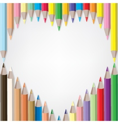 coloured pencil set vector image