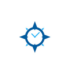 compass time logo icon design vector image
