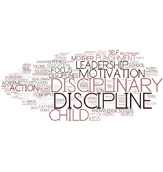 Discipline word cloud concept vector