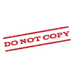 Do Not Copy Watermark Stamp vector