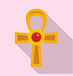 Egypt ankh cross icon flat style vector