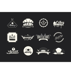 et bakery logos badges and emblems food vector image