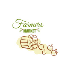 Farmers market badge design vector
