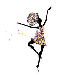 flower girl ballerina vector image