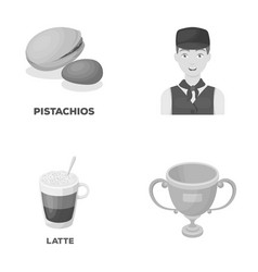 Food drink and other monochrome icon in cartoon vector