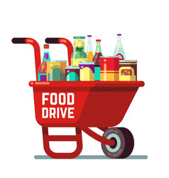 Food drive bank thanksgiving and christmas holiday vector