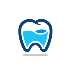 fresh tooth icon logo vector image