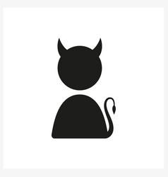 Funny icon with devil profile vector