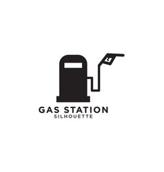 gas station graphic design template vector image