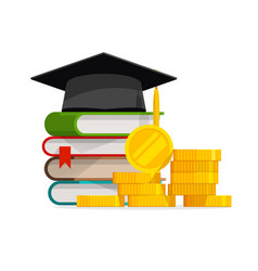 Graduation cost or expensive education or vector
