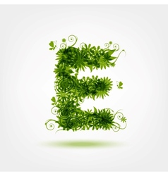 Green eco letter E for your design vector