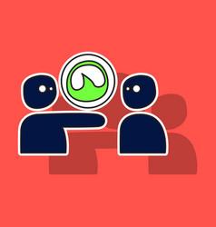 Grooveshark sticker for technology and social vector