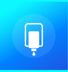 Hand sanitizer automatic wall dispenser icon vector