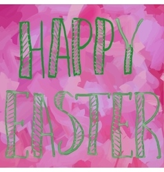 Happy Easter Green on Pink Print vector