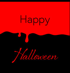 Happy halloween blood background vector