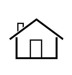Home icon simple symbol vector