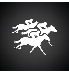 Horse ride icon vector image