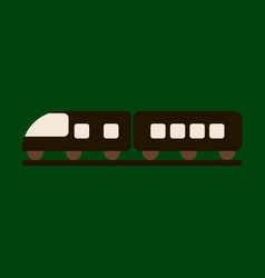 icon in flat design for airport train vector image