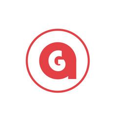 Letter a negative space letter g icon logo design vector